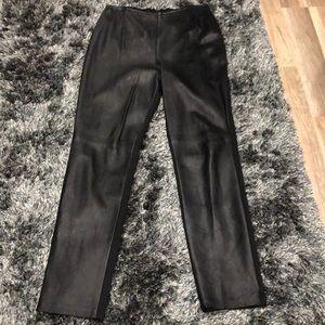 Vintage leather front pants